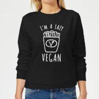 Lazy Vegan Women's Sweatshirt - Black - XS - Black