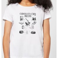 Chocolate Cake Recipe Women's T-Shirt - White - XXL - White - Chocolate Gifts