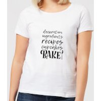 Baking Words Women's T-Shirt - White - XXL - White - Baking Gifts