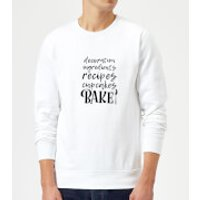 Baking Words Sweatshirt - White - XXL - White - Baking Gifts