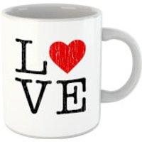 'Love Heart Textured Mug