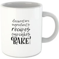 Baking Words Mug - Baking Gifts