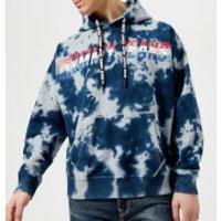 Tommy Jeans Men's Vintage Tie Dye Popover Hoody - Light Grey Heather Tie Dye - L - Blue