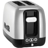 Dualit 26600 Domus 2 Slot Toaster - Polished Steel/Black