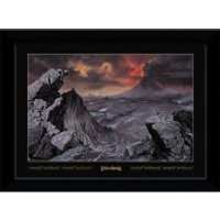 Lord of The Rings Mount Doom Collector's 50 x 70cm Framed Photograph