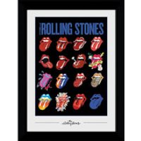 Rolling Stones Tongues Collectors 50 x 70cm Framed Photograph