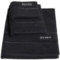Hugo BOSS Plain Towels - Graphite - Bath Sheet - Grey