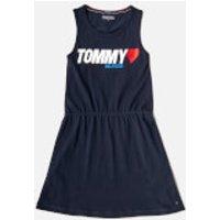 Tommy Hilfiger Girls Preppy Knit Dress - Black Iris - 10 Years - Blue