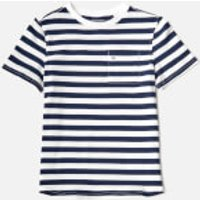 Tommy Hilfiger Boys Ame Bright Piqu Stripe T-Shirt - Black Iris - 16 Years - Blue