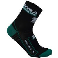 Sportful Bora Hansgrohe Team Race Socks - Black/Green - L-XL - Black/Green