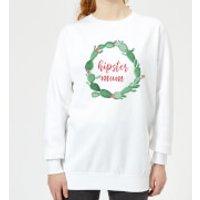Hipster Mum Women's Sweatshirt - White - 5XL - White