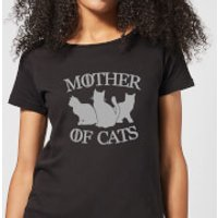 Mother Of Cats Black Women's T-Shirt - Black - S - Black