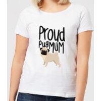 Proud Pug Mum Women's T-Shirt - White - XXL - White - Pug Gifts