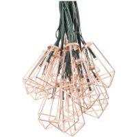 Elan Solar Copper Pendant Lantern Fairy Lights