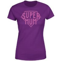 Mother's Day Super Mum T-Shirt - Purple - XXL - Purple - Mothers Day Gifts