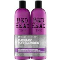TIGI Bed Head Dumb Blonde Repair Shampoo and Reconstructor for Coloured Hair 2 x 750ml