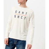 GANT Mens Graphic Long Sleeve T-Shirt - Eggshell - M - White
