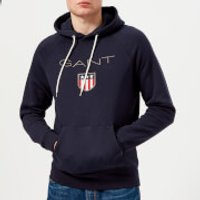 GANT Mens Shield Logo Hoodie - Evening Blue - XXL