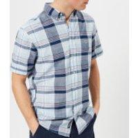 GANT Mens Blue Pack Madras Short Sleeve Shirt - Capri Blue - M - Blue