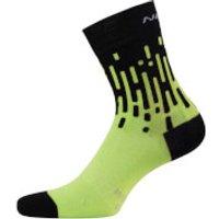Nalini Tornado Lady Socks - Fluro Yellow/Black - XS - Yellow/Black