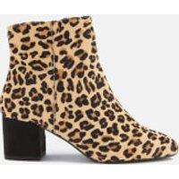 Dune Women's Olyvea Suede Heeled Ankle Boots - Leopard - UK 7 - Tan