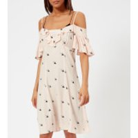 McQ Alexander McQueen Women's Off-the-Shoulder Mini Dress - English Rose - IT 44/UK 12 - Pink