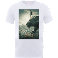 Black Panther Poster T-Shirt - White - L - White