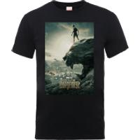 Black Panther Poster T-Shirt - Black - L - Black