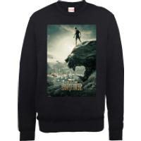Black Panther Poster Sweatshirt - Black - XXL - Black