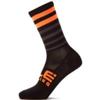Ale Speed Fondo Socks - S - Black/Fluo Orange