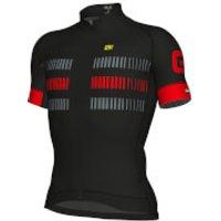 Ale Strada Jersey - Black/Red - XXL - Black/Red