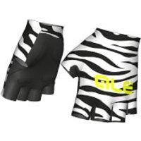 Ale Flowers Gloves - White/Black - XL - White/Black
