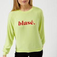 Wildfox Womens Blas Sweatshirt - Yellow Glow - L - Yellow