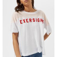 Wildfox-Womens-Exersighs-Short-Sleeve-TShirt-Clean-White-L-White