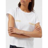 Wildfox-Womens-Love-Child-Short-Sleeve-TShirt-White-XS-White