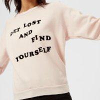 Wildfox-Womens-Get-Lost-Sweatshirt-Pink-Flesh-M-Pink