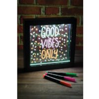 Light Up Neon Effect Message Frame - Small