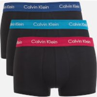 Calvin Klein Mens 3 Pack Trunk Boxer Shorts - Black/Seaway Black/Estate Blue Black - XL - Black