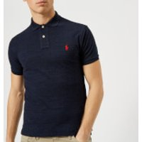 Polo Ralph Lauren Men's Slim Fit Short Sleeve Polo Shirt - Worth Navy Heather - XS - Navy