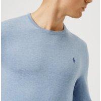 Polo Ralph Lauren Men's Pima Cotton Crew Neck Knit Jumper - New Age Blue Heather - XXL - Blue