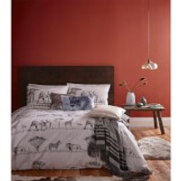 Catherine Lansfield Safari Duvet Set - Grey - King - Grey
