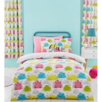 Catherine Lansfield Clouds Duvet Set - Multi - Double - Multi - Bedding Gifts
