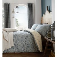 Catherine Lansfield Moroccan Paisley Duvet Set - Petrol - King - Blue - Bedding Gifts