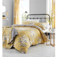 Catherine Lansfield Canterbury Duvet Set - Ochre - Double - Yellow - Bedding Gifts