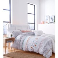 Catherine Lansfield Marble Duvet Set - Multi - Single - Multi