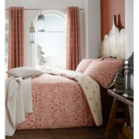 Catherine Lansfield Moroccan Paisley Duvet Set - Spice - Single - Red