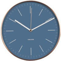 Karlsson Minimal Wall Clock - Jeans Blue with Copper Case - Karlsson Gifts