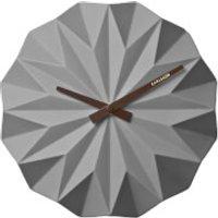 Karlsson Origami Ceramic Wall Clock - Matt Grey - Clock Gifts