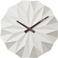 Karlsson Origami Ceramic Wall Clock - Matt White - Clock Gifts
