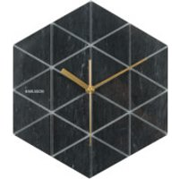 Karlsson Marble Hexagon Wall Clock - Black - Clock Gifts
